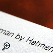 Oberflächenansicht Fineartpapier Harman Matt Cotton Smooth 300 g