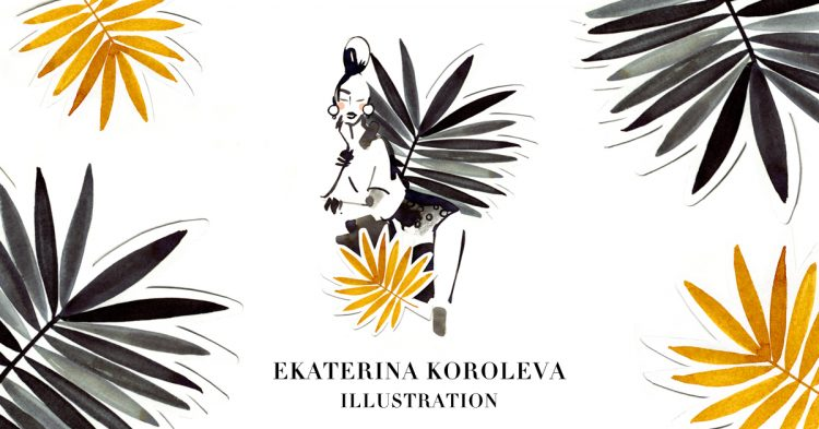 Ekaterina Koroleva Ausstellung Illustrationen